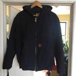 Carhartt blue thermal lined duck active jacket